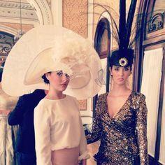 #Tocado y #sombrero de #Cherubina