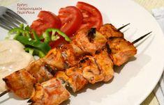 Σουβλάκια μαριναρισμένου κοτόπουλου με σάλτσα γιαουρτιού - cretangastronomy.gr