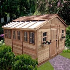 """Sun Garden Shed by Outdoor Living Today #SSGS1212  [12' width; 9' 5"""" overall height; 11' 6"""" length; 8' 10"""" height]"""
