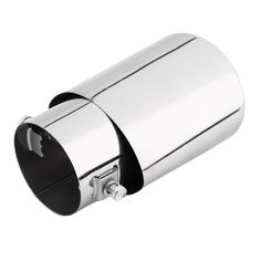 Universal Car Exhaust Muffler Tip Stainless Steel Pipe Chrome Trim Modified Car Tail Throat Liner Pipe Exhaust System New~