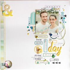 scrapbooking layout | your day per Scrappiamo Insieme by kushi www.kkush.com   #scrapbooking #layout #layout12x12 #scrap #kkushi #labels
