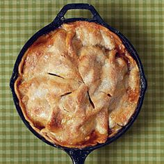 cast iron skillet apple pie...yum!