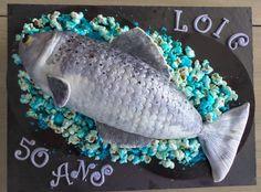 Mes créations pâtissières: Gâteau pour un pêcheur