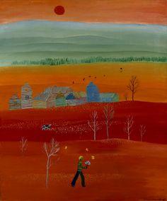 Saara Tikka: Sivullinen, 1973, öljy kankaalle, 110,5x92 cm - Kansallisgalleria - Taidekokoelmat