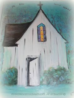 THE OPEN DOOR - Come on In - Canvas Wall Art  16 X 20, Come to the Church in the Wildwood, Acrylic, Signed by Artist, Gallery Wrapped Canvas on Etsy, $110.00