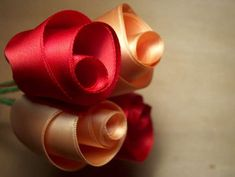 Ribbon roses-- rolled rolled
