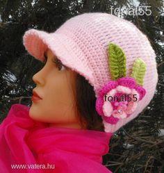 Hercegnő horgolt simléderes sapka csinos -  Nézd meg Te is Crochet Hats, How To Make, Fashion, Moda, La Mode, Fasion, Fashion Models, Trendy Fashion