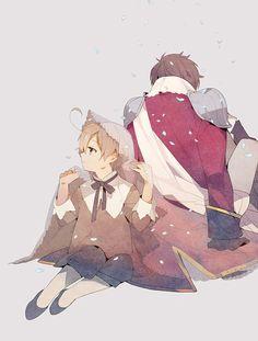 Spain & Romano (Art by Sousou) | Hetalia (ヘタリア) #anime