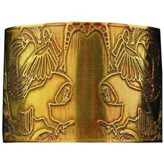 Anna McD Large Brass Owl Cuff ($60) found on Polyvore