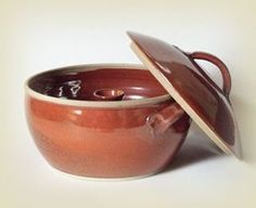 """Ceramic Food Steamer With Central Chimney """"Le Steamer"""" by Laurent Merchant Small Gas Stove, Steam Cooker, Steam Recipes, Pottery Bowls, Thrown Pottery, Pottery Ideas, Clay Food, Ceramic Clay, Steamer"""