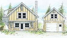 Cottage House Plan with 1520 Square Feet and 2 Bedrooms(s) from Dream Home Source | House Plan Code DHSW72512