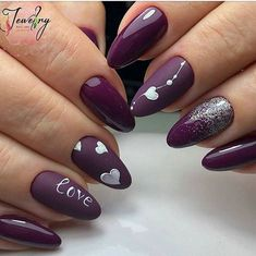 Best Valentine Nail Art Designs - Page 63 of 85 - NailCuco Heart Nail Designs, Valentine's Day Nail Designs, Simple Nail Art Designs, Best Nail Art Designs, Easy Nail Art, Nails Design, Awesome Designs, Nail Designs With Hearts, Trendy Nails