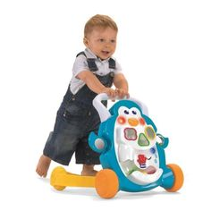 The Chicco Penguin Activity Walker helps baby to stand up and take its first steps safely. Baby Play, Grubs, Baby Design, First Step, Penguins, Activities, Toys, Children, Fun