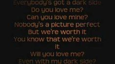 Kelly Clarkson - Dark Side Lyrics On Screen, via YouTube.