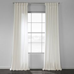The newest Sanger Solid Country Cotton Linen Weave Rod Pocket Single Curtain Panel is offered in several natural colors to add a touch of casual sophistication to your decor. White Linen Curtains, Cool Curtains, Lined Curtains, Grommet Curtains, Curtain Fabric, Casual Decor, Kilim Beige, Curtain Styles, Custom Drapes