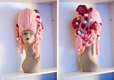 Pink 18th century wig tutorial