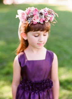 flower girl wreath // photo by Gem Photo
