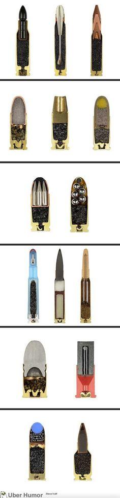 Bullets cut in half. So nifty.