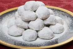 Recipe for Kourabiedes (Almond sugar cookies) Greek Sweets, Greek Desserts, Cookie Desserts, Greek Recipes, Cookie Recipes, Dessert Recipes, Kourabiedes Recipe, Almond Sugar Cookies, Greek Cookies