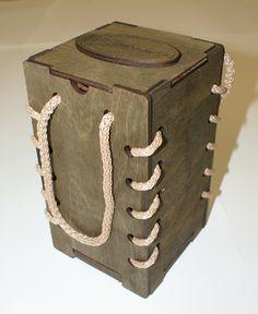 Подарочная коробка, фанера, лазерная резка.