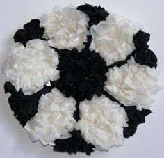 Tissue paper football - all you need is a paper plate, glue, black & white tissue paper and a pen!