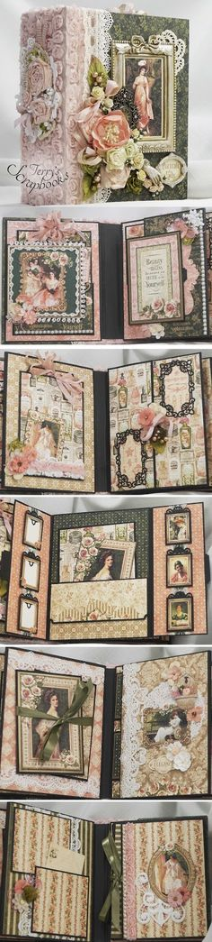 Terry's Scrapbooks: Graphic45 Portrait Of A Lady Scrapbook Mini Album Reneabouquets Design Team Project