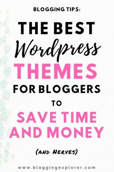 How can you save time and money by choosing the right WordPress theme for your b Wordpress For Beginners, Learn Wordpress, Best Wordpress Themes, Wordpress Plugins, Blogging For Beginners, Wordpress Free, Ecommerce, Customize Wordpress Theme, Wordpress Guide