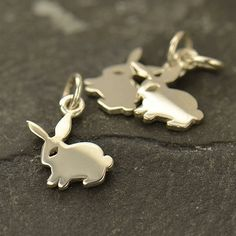 Sterling Silver Bunny Charm 15mmx11mm