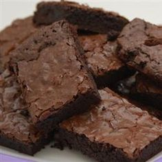 Absolutely Best Brownies Allrecipes.com   Just double the vanilla and don't over-mix or over-bake