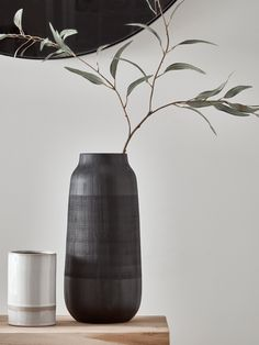 NEW Black Jar Vase – New Arrivals – Interior Design Trends – Home living color wall treatment kitchen design Ceramic Tableware, Ceramic Vase, Tall Vases, Bud Vases, Vase Noir, Interior Design Trends, Decoration Plante, Black Vase, Faux Plants