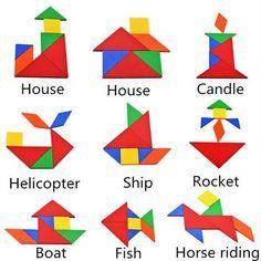 Tangram Animals S S Tangram Animals Solutions Montessori Activities, Preschool Worksheets, Educational Activities, Preschool Activities, Classroom Hand Signals, Tangram Puzzles, Math Boards, Paper Crafts Origami, Pattern Blocks