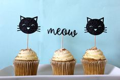 NEW Kitty Cat Cupcake Toppers Kitty Cat Party Decor Meow
