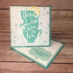 Time for Tea | Stampin' Up!| A Nice Cuppa | Wacky Watercooler March Blog Hop | Special Card Folds #literallymyjoy #tea #teatime #twistedeaselcard #2016OccasionsCatalog