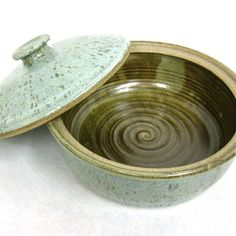 Stoneware Pottery Casserole with Lid by CrookedCreekStudio1, $46.00