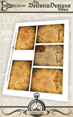 Grunge Journal Cards 3x4 inch journal Cards Printable suitable