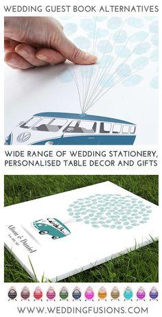 Campervan Wedding GuestBook Alternative, Volkswagen Campervan, Unique Wedding Guestbook Ideas, fingerprint guestbook Vw Bus, Volkswagen, Vw Camper, Diy Wedding, Wedding Gifts, Wedding Vans, Wedding Planner Binder, Wedding Guest Book Alternatives, Printable Designs