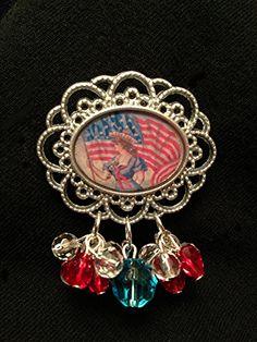 Antiqued Fourth of July Brooch by TrishAnnes.com, $12.50