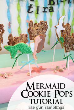 How to make cute Mermaid cookie pops - Rae Gun Ramblings