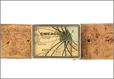 Chicago Map, Belt Buckle
