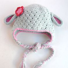 Crochet Baby Hat- Animal hat-Children Clothing Kids Hat   - children fashion -photography props-sheep-Baby girl Hat  - winter accessories. $25.00, via Etsy.