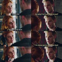 "#Shadowhunters 1x06 ""Of Men and Angels"" - Clary and Jace"