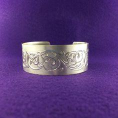Sterling Silver Scroll Bracelet  Victorian by McFarlinsStudio