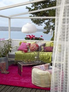 26 Adorable Boho Chic Terrace Designs | DigsDigs