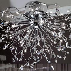 http://www.paccony.com/product/Contemporary-Radiate-Flush-Mount-with-Crystal-20700.html Contemporary Radiate Flush Mount with Crystal