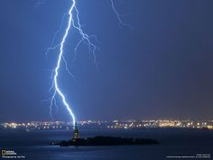 Liberty torched by lightning
