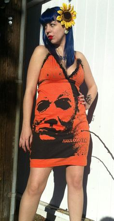 Plus Size Halloween Michael Myers Rustic Black by lexicomanic, $55.50 @Samantha @This Home Sweet Home Blog Derby Michael Meyers Halloween, Plus Size Halloween, Halloween Art, Michael Myers, Emo Outfits, Stretch Dress, Dress Me Up, Dress To Impress