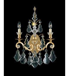 Schonbek 2761-22 Versailles 2 Light 8 inch Heirloom Gold Wall Sconce Wall Light #LightingNewYork