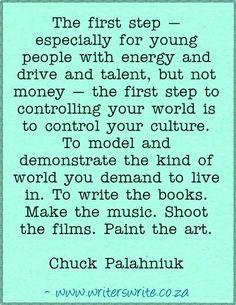 The first step... Chuck Palahniuk