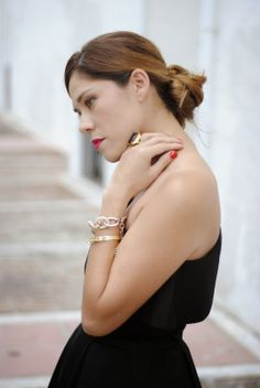 LUXURY 9-6-2014  Carlos Luque dress / Zara shoes / LePiccola bag