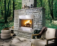 Monessen Al Fresco Outdoor Wood Burning Fireplace Outdoor Wood Burning Fireplace, Fireplace Hearth, Home Fireplace, Outdoor Fireplaces, Copper Fire Pit, Cool Fire Pits, Pizza Ovens, Hearth And Home, Outdoor Kitchen Design